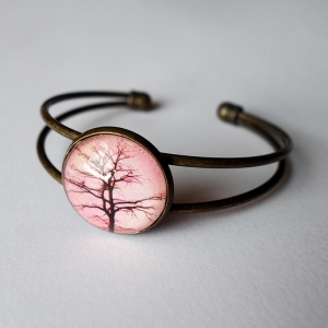 Cuff bracelet Sepia tree