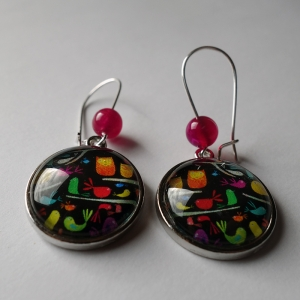 Earrings Polish birds