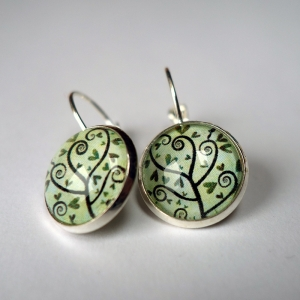 Earrings Spiral tree