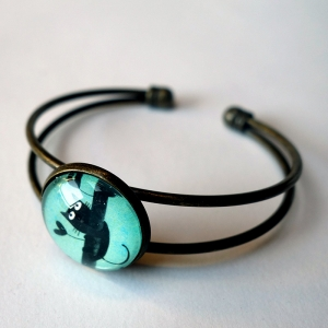 Cuff bracelet Paulin the cat