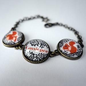 Bracelet prénom L'écureuil