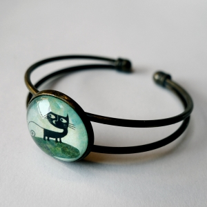 Cuff bracelet Malo the cat
