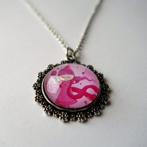 Kid necklace Pink princess