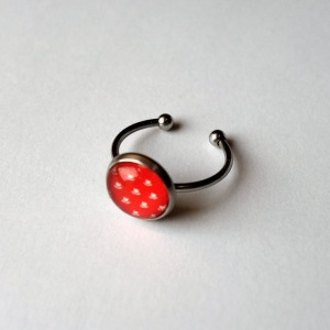 Small round ring Vermilion