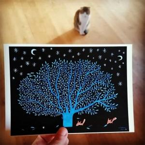 Affichette Chêne bleu