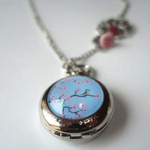 Watch necklace Sakura