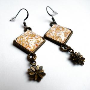 Earrings Yellow roses