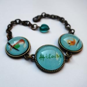 Bracelet prénom Elfe et l'oiseau