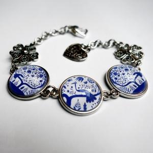 Bracelet blue peacock