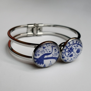 Double bracelet Blue peacock