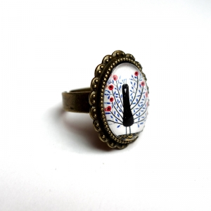 Ring Flowerish peacock