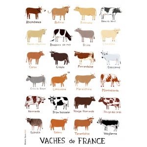 Print Cows from France