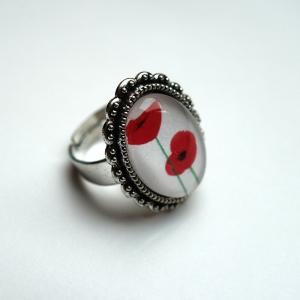 Vintage ring Poppies
