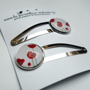 Couple of hairpins Poppies