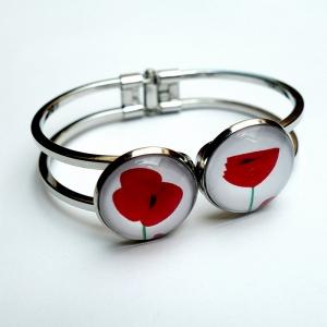 Double cuff bracelet Poppies