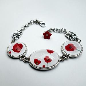 Bracelet Coquelicots