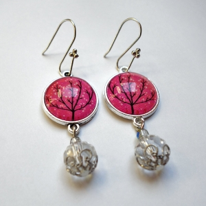 Earrings Sparkling tree