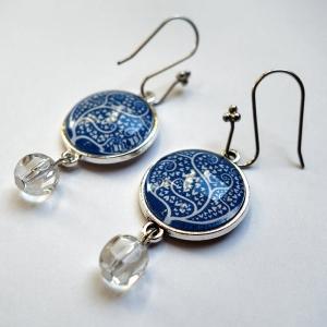 Earrings White tree