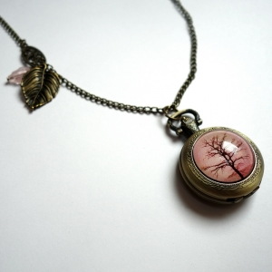 Watch necklace Sepia tree