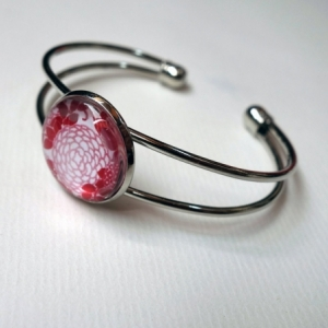 Bracelet Hortensias rouges