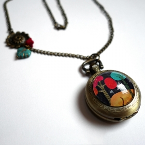 Watch necklace Melted trees