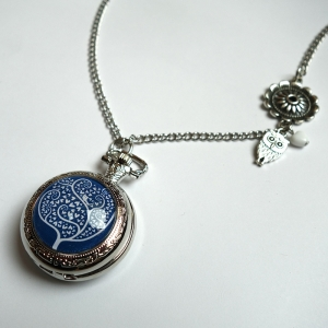 Watch necklace White tree