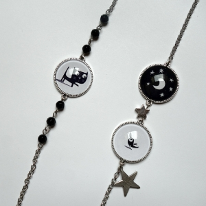 Long necklace Fridolin under the moon