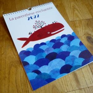 2022 Wall calendar Red whale