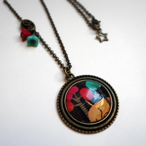 Vintage necklace Melted trees