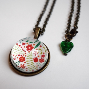 Round necklace Madder