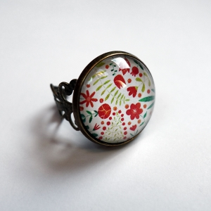 Vintage ring Madder