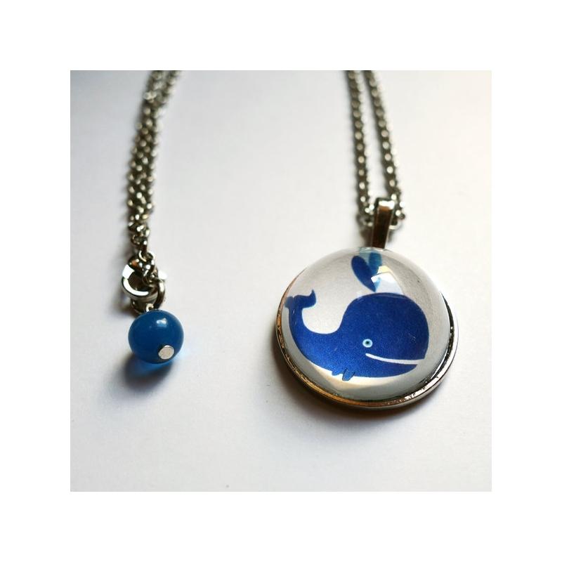 Collier Baleine bleue