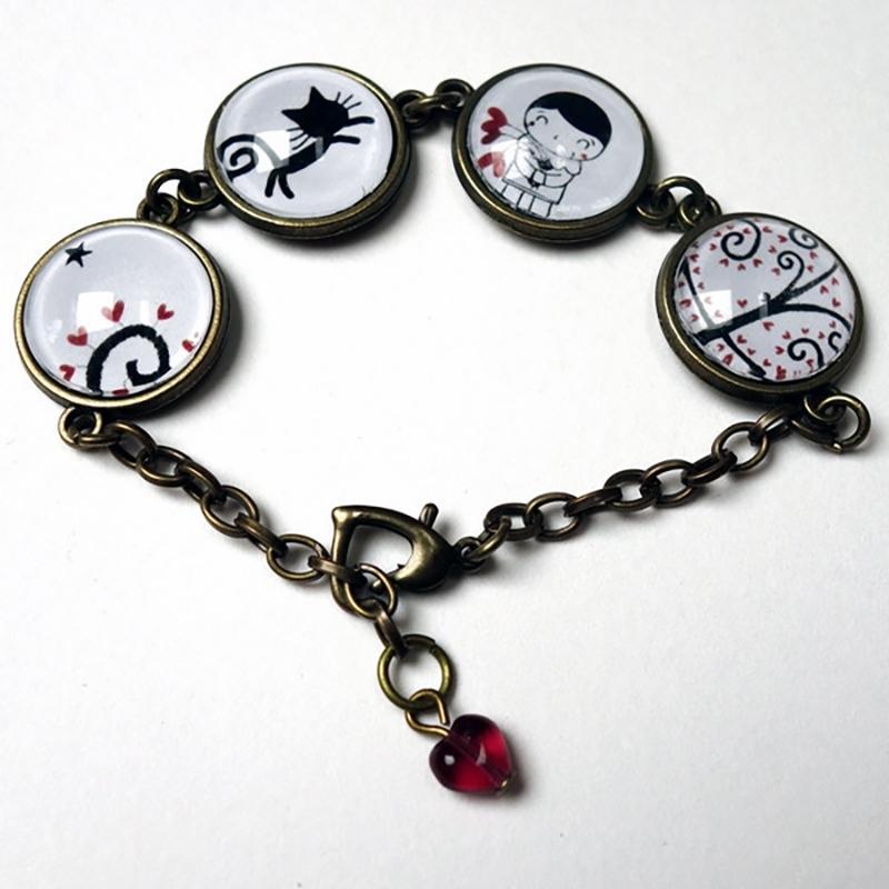 Bracelet Pierrot et l'arbre de Lune