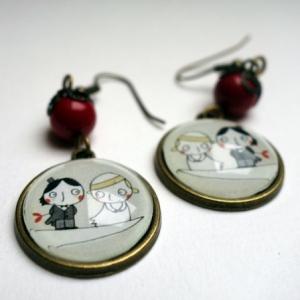 Boucles d'oreilles Les petits mariés