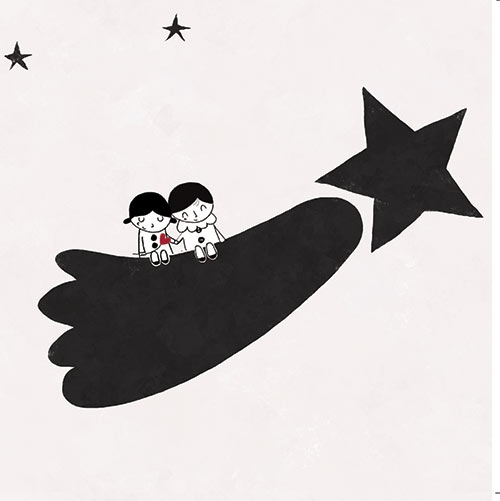 Lovers on a wishing star