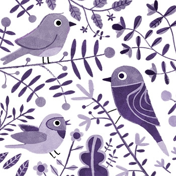 Purple birds